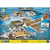 Messerschmitt Bf109 Tropical Luftwaffe African Mission with Hangar Historical Collection Cobi Construction Toy 500 pieces