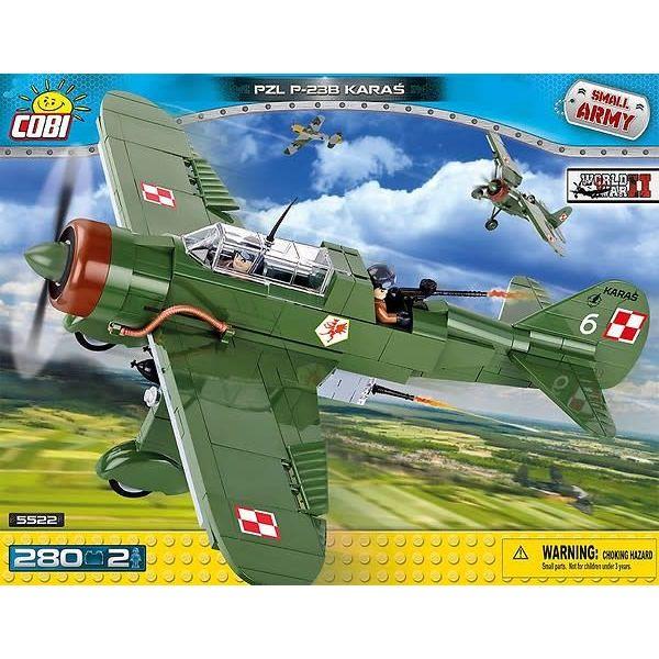 Cobi PZL P23 Karas Polish Green Historical Collection Cobi Construction Toy 280 pieces