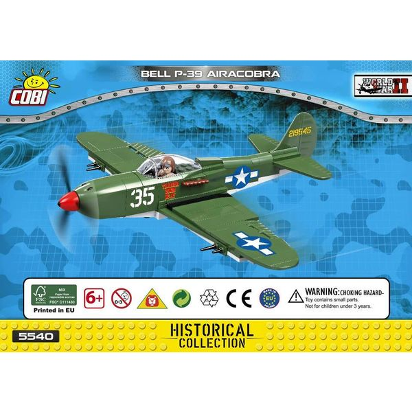 Cobi P39 Airacobra USAAF WHITE 35 Cobi Historical Collection 231 pieces
