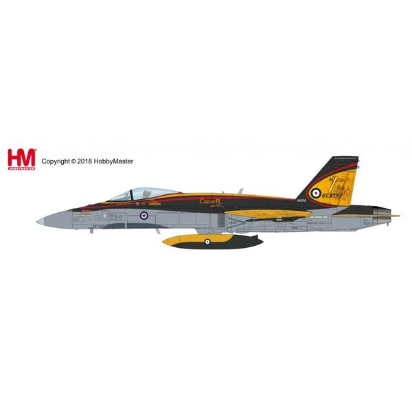 Hobby Master CF188 Hornet RCAF 2016 Demo Team BCATP 75th Anniversary 188761 1:72 with stand