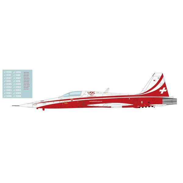 Hobby Master F5E Tiger II Patrouille Suisse 2019 Season 55th Anniversary 1:72