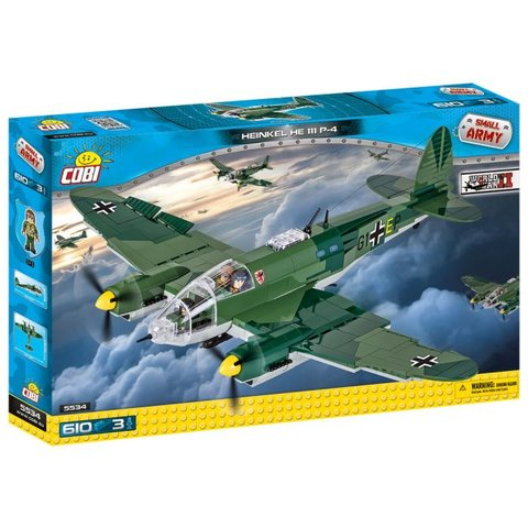 Heinkel He111 P4 GI+E Luftwaffe Historical Collection Cobi Construction Toy 610 pieces 3 figures