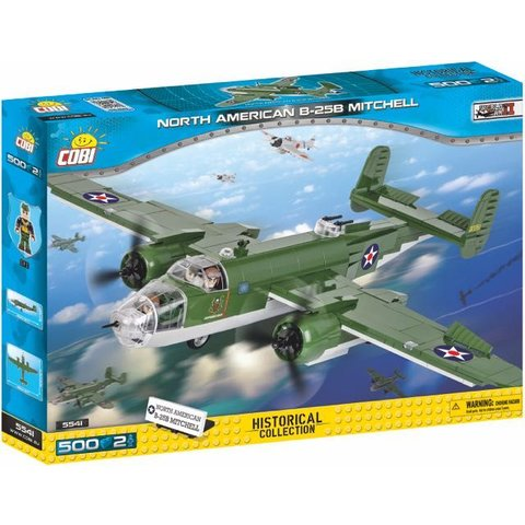 North American B25B Mitchell USAAF Historical Collection Cobi Construction Toy 500 pieces 2 figures