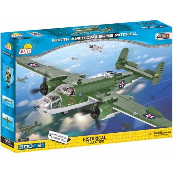 Cobi North American B25B Mitchell USAAF Historical Collection Cobi Construction Toy 500 pieces 2 figures