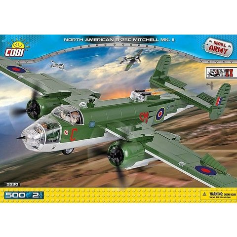 North American B25 Mitchell MkII Royal Air Force Historical Collection Cobi Construction Toy 500 pieces