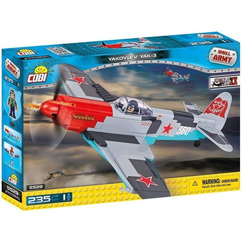 Yakovlev YAK3 Red Nose WHITE 360 Soviet Historical Collection Cobi Construction Toy 235 pieces