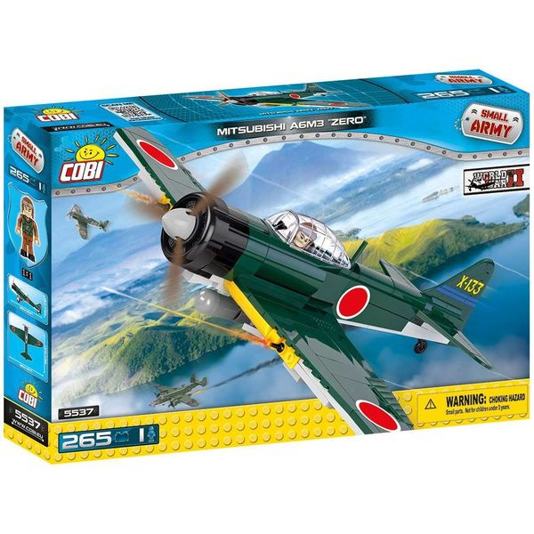 Cobi Mitsubishi A6M3 Zero Japan IJA Green Cobi Historical Collection 265 pieces