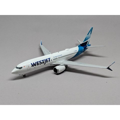 B737 MAX8 Westjet new livery 2018 C-GZSG 1:200 with stand