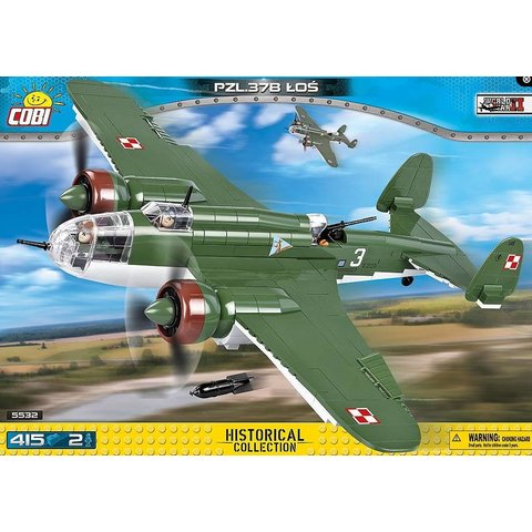 PZL P37b Los Polish Green Historical Collection Cobi Construction Toy 415 pieces