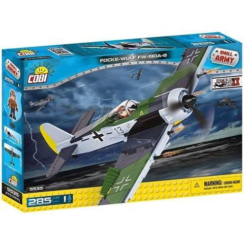 Focke Wulf FW190 A8 Luftwaffe Historical Collection Cobi Construction Toy 285 pieces
