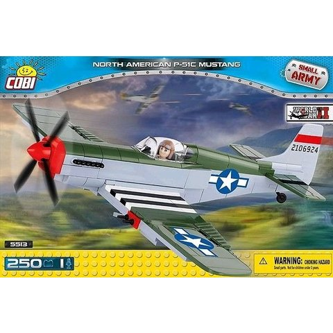 P51C Mustang USAAF D-Day Historical Collection Cobi Construction Toy 250 pieces