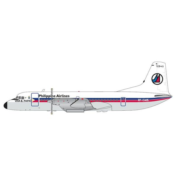 Gemini Jets YS11 Philippine Airlines Old Livery Papal Visit  RP-C1415 1:200 with stand