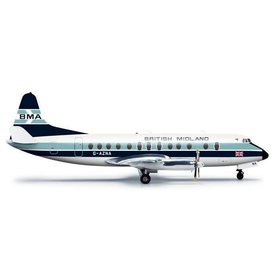 Herpa Viscount 800 British Midland old livery G-AZNA 1:200 with stand