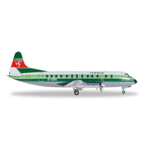 Viscount 800 manx G-AZNA 1:200 with stand