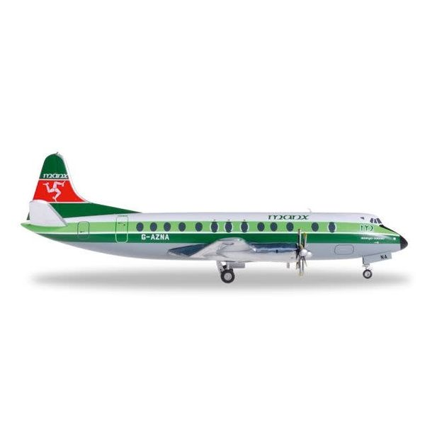 Herpa Viscount 800 manx G-AZNA 1:200 with stand