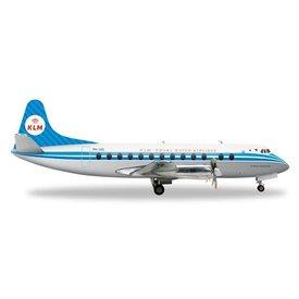 Herpa Viscount 800 KLM PH-VIG 1:200 with stand