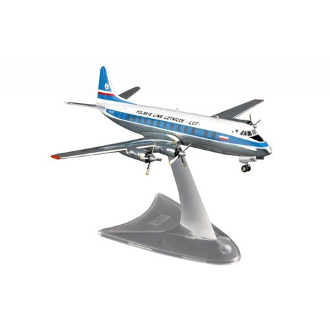Viscount 800 LOT Polish Airlines 1:200 with stand