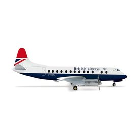 Herpa Viscount 800 British Airways Red Tail G-AOYJ 1:200 with stand