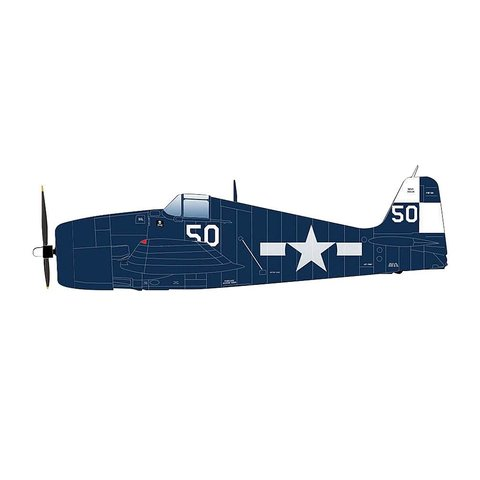 F6F5 Hellcat VF17 Jolly Rogers USS Hornet WHITE 50 1945 1:32 with stand