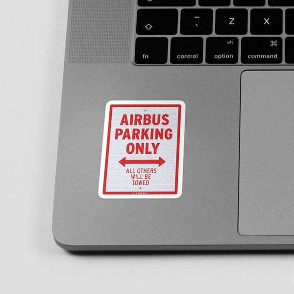Airportag Sticker Airbus Parking