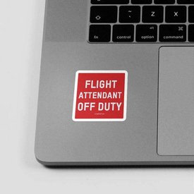 Airportag Sticker Flight Attendant Off Duty