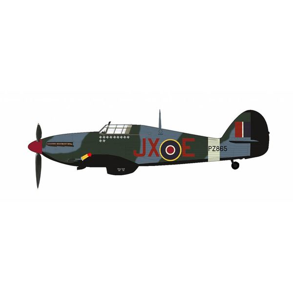 Hobby Master Hawker Hurricane IIc No.1 Sqn.RAF Night Reaper JX-E PZ885 1942    1:48 with stand