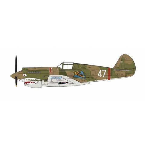 P40B Warhawk F/L Robert Smith 3rd Sqn.AVG Kunming China June 1942 1:48 with stand