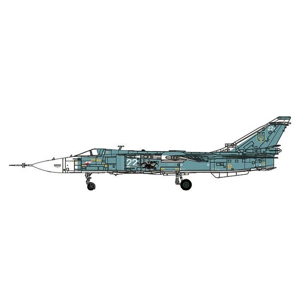 Calibre Wings Su24M Fencer Ukraine Air Force WHITE 22 1:72