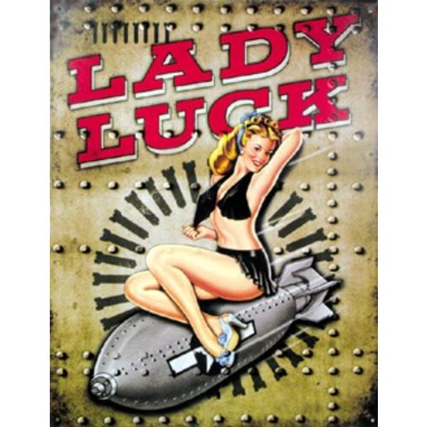 Tin Sign Lady Luck