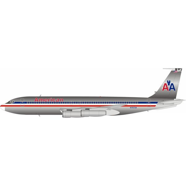 InFlight B707-100 American Airlines N7573A 1:200 polished With Stand