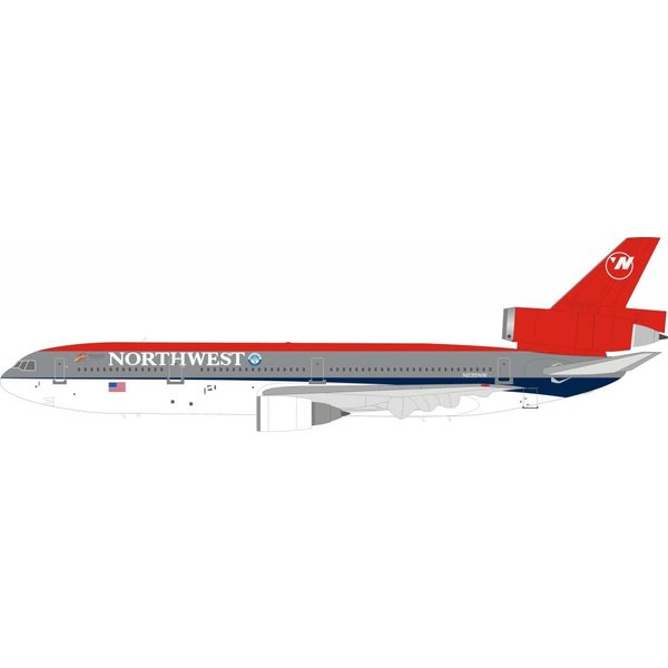 InFlight DC10-30 Northwest Airlines Bowling Shoe N235NW 1:200 With Stand