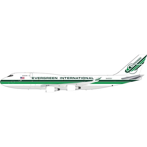 Boeing B747-400 Evergreen International N493EV 1:200 With Stand