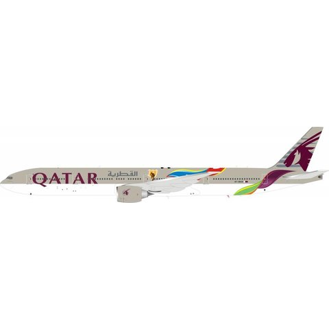 B777-300ER Qatar Airways FIFA World Cup A7-BAX 1:200 With Stand