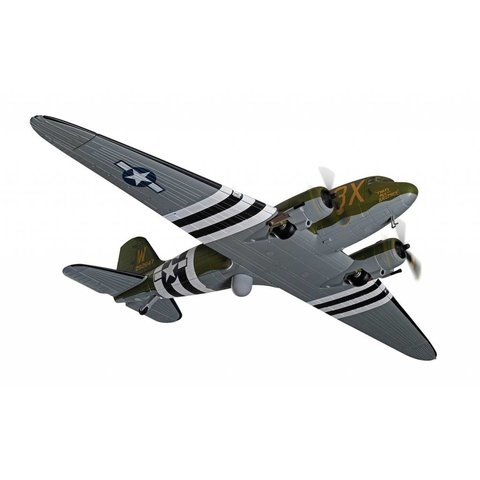 C47A Skytrain USAAF D-Day Lead Aircraft Thats All Brother 3X-W 42-92847 1:72 with stand