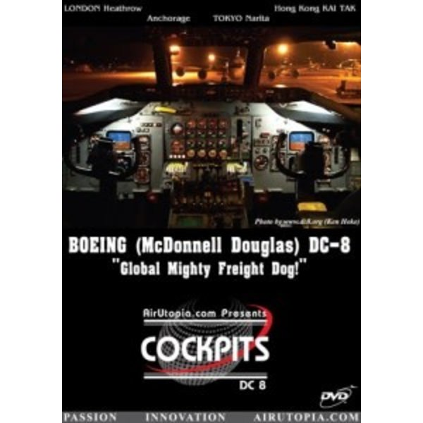 Air Utopia DVD McDonnnell Douglas DC8 Mighty Freight Dog Cockpit #24