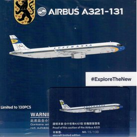 HYJL Wings A321 Lufthansa Retro Livery D-AIRX 1:400