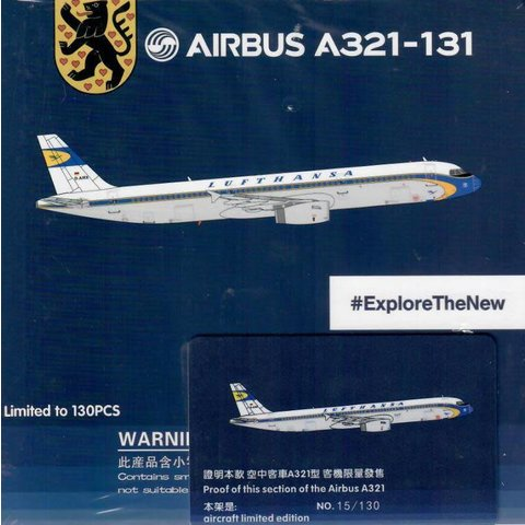 A321 Lufthansa Retro Livery D-AIRX 1:400