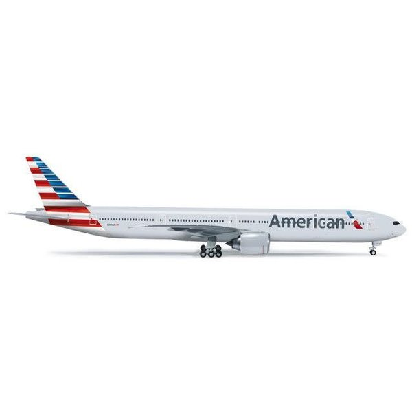 Herpa B777-300ER American 2013 livery 1:200 with stand