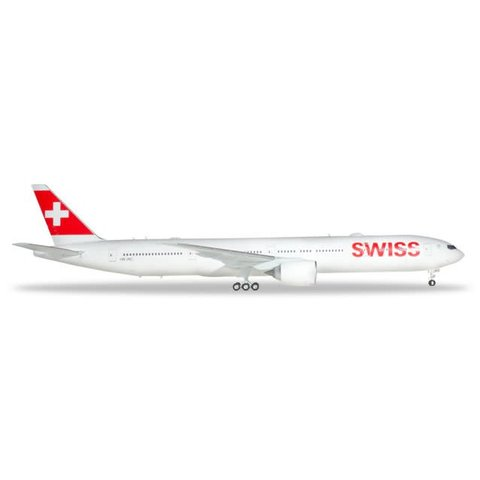 B777-300ER Swiss 1:200 with stand (plastic)