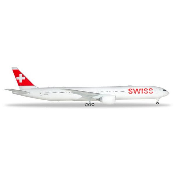 Herpa B777-300ER Swiss 1:200 with stand (plastic)