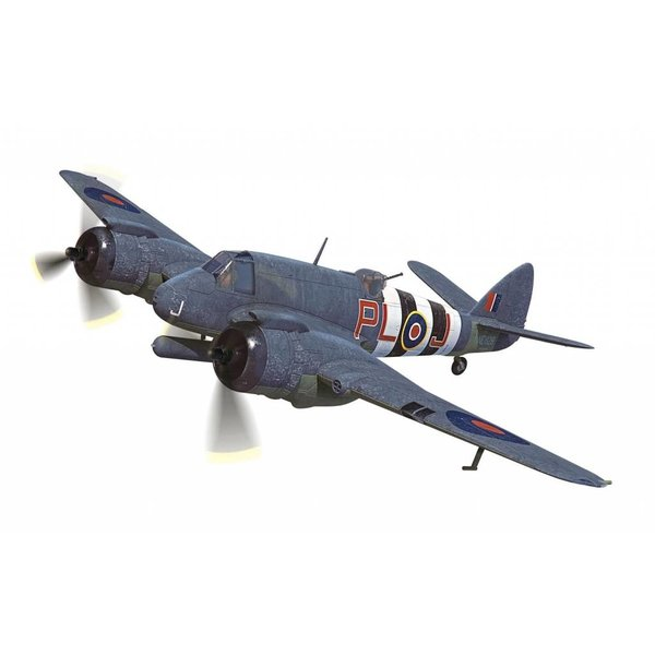 Corgi Bristol Beaufighter TF MkX 144 Squadron RAF Banff Strike Wing Scotland, D-Day 1944 PL-J NE829 1:72 with stand