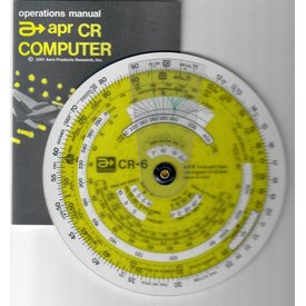 APR Industries CR6 Time / Speed / Distance Circular Flight Computer 6""