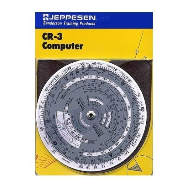 "Jeppesen CR3 Circular Flight Computer 6"" Diameter Time / Speed / Distance with case"
