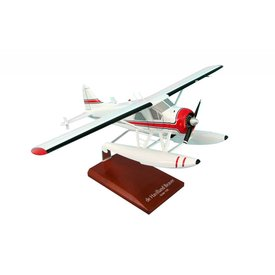 DHC2 Beaver on Floats Red Cheatline 1:32 with Wooden stand