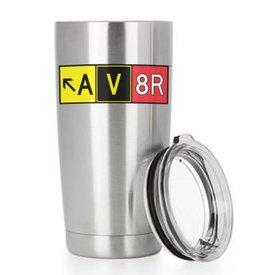 Av8r Mug, Double Wall Vacuum Insulated Stainless Steel Tumbler