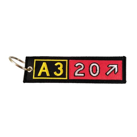Keychain, Embroidered, Airbus A320