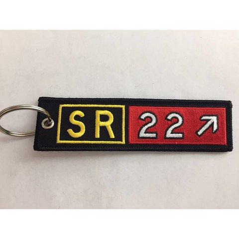 Keychain, Embroidered, Cirrus Sr22