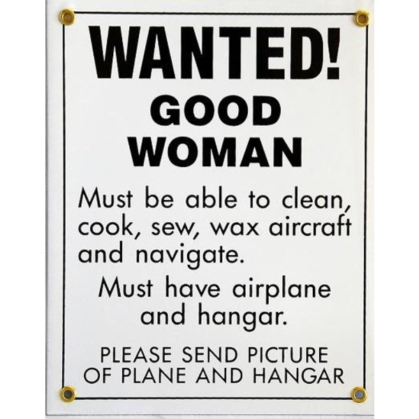 Metal Sign, Wanted! Good Woman