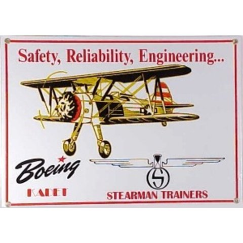 Metal Sign, Boeing Stearman