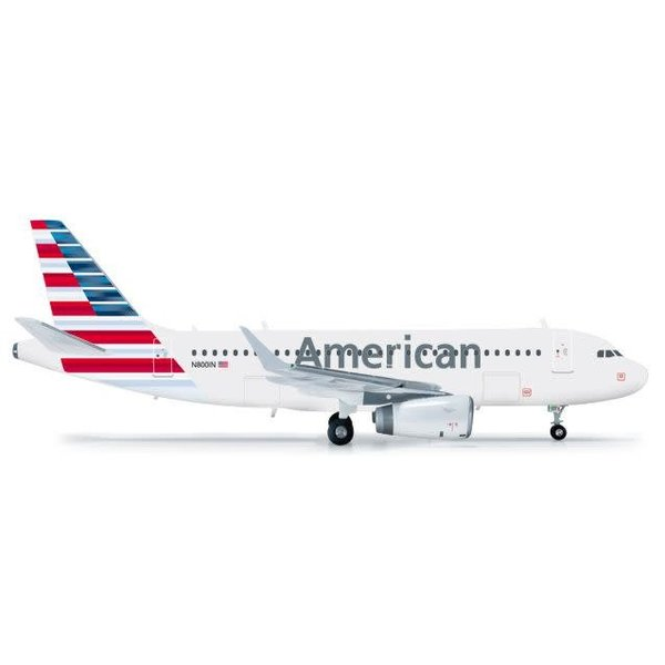 Herpa A319S American Airlines 2013 Livery sharklets 1:200 With Stand
